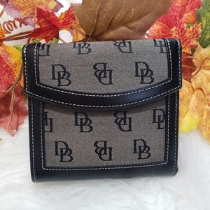 Dooney & Bourke Leather Black/Gray Wallet